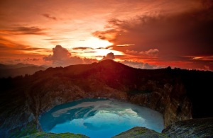 Natural Tourism Lake Kelimutu In Flores Island
